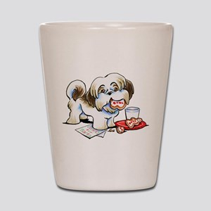 Shih Tzu Cookies Shot Glass