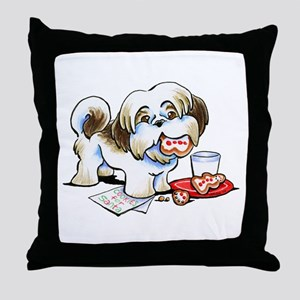 Shih Tzu Cookies Throw Pillow