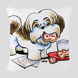 Shih Tzu Cookies Woven Throw Pillow