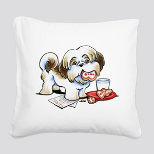 Shih Tzu Cookies Square Canvas Pillow