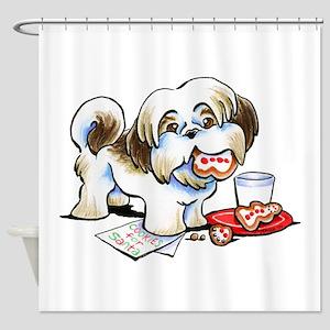 Shih Tzu Cookies Shower Curtain