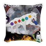 Wolf TAO Woven Throw Pillow