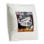 Wolf TAO Burlap Throw Pillow