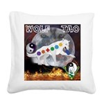 Wolf TAO Square Canvas Pillow