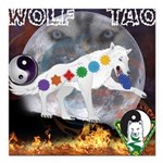 Wolf TAO Square Car Magnet 3