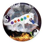 Wolf TAO Round Car Magnet