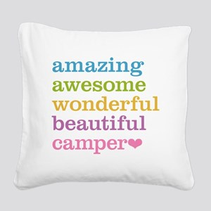 Amazing Camper Square Canvas Pillow