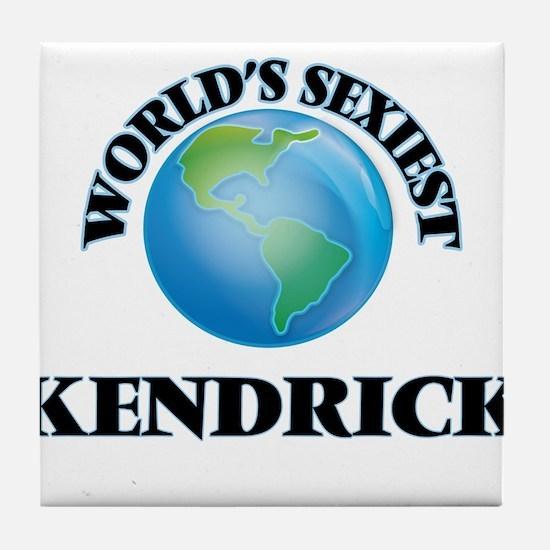 World's Sexiest Kendrick Tile Coaster