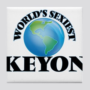 World's Sexiest Keyon Tile Coaster