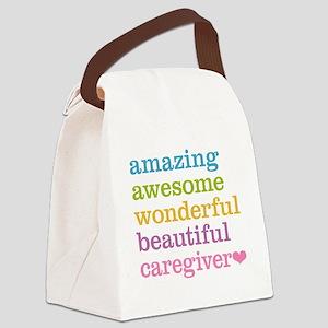 Amazing Caregiver Canvas Lunch Bag