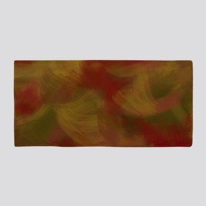 Soft Earthtone Brush Strokes Beach Towel