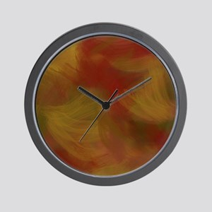 Soft Earthtone Brush Strokes Wall Clock