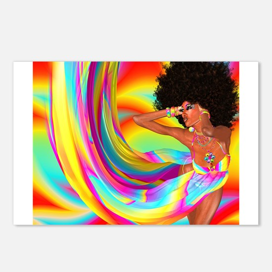 Sexy woman with afro hair Postcards (Package of 8)
