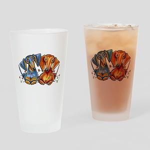 Dachshund Christmas Drinking Glass