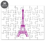 Purple Eiffel Tower Puzzle