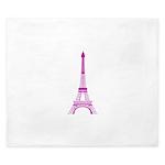 Purple Eiffel Tower King Duvet