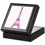 Purple Eiffel Tower Keepsake Box
