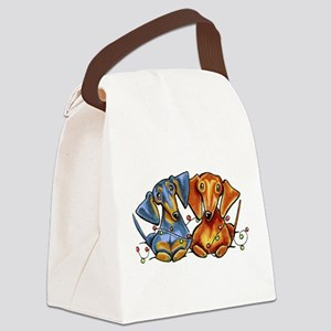 Dachshund Christmas Canvas Lunch Bag