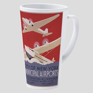 New York Airport 17 Oz Latte Mug