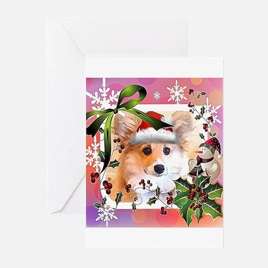 Pembroke Corgi Holiday Greeting Cards