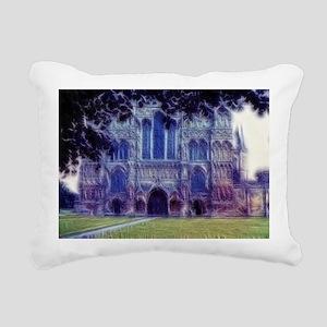 Salisbury cathedral Impr Rectangular Canvas Pillow