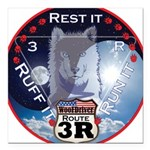 WooFDriver Route 3R Square Car Magnet 3