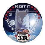 WooFDriver Route 3R Round Car Magnet