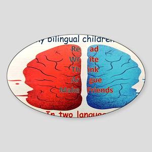 My Bilingual Children can... Sticker