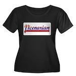 Vicenarian Women's Plus Size Scoop Neck Dark T-Shi