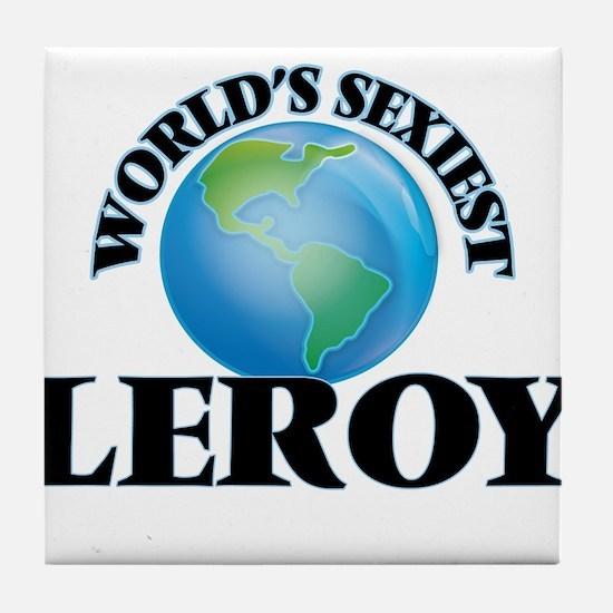 World's Sexiest Leroy Tile Coaster
