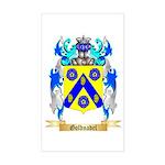 Goldnadel Sticker (Rectangle)