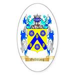 Goldklang Sticker (Oval 50 pk)