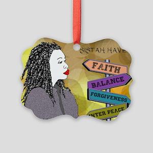SISTAH HAVE FAITH, BALANCE Ornament