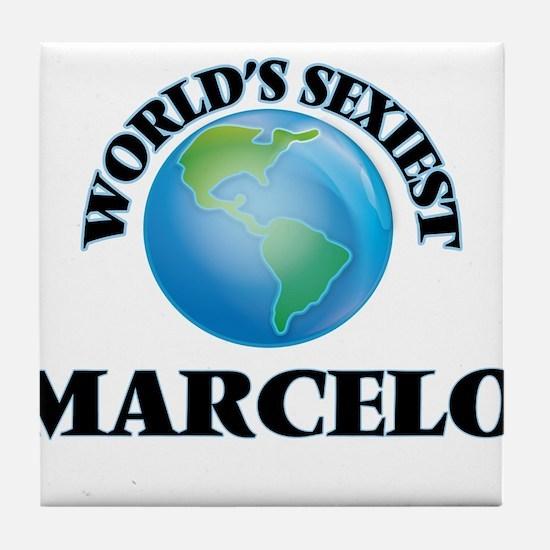 World's Sexiest Marcelo Tile Coaster