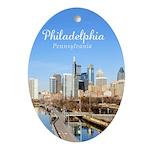 Philadelphia Ornament (Oval)