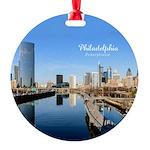 Philadelphia Round Ornament