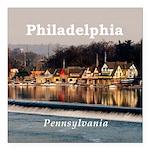 "Philadelphia Square Car Magnet 3"" x 3"""