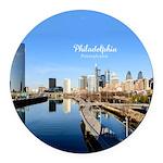 Philadelphia Round Car Magnet