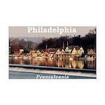 Philadelphia Rectangle Car Magnet
