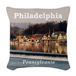 Philadelphia Woven Throw Pillow