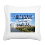 Philadelphia Square Canvas Pillow