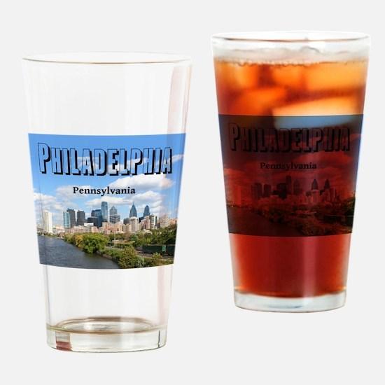 Philadelphia Drinking Glass