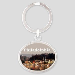 Philadelphia Oval Keychain