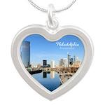 Philadelphia Silver Heart Necklace