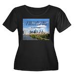 Philadel Women's Plus Size Scoop Neck Dark T-Shirt