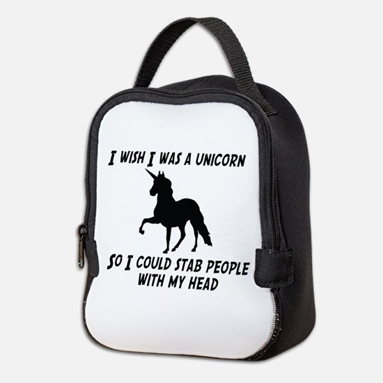I Wish Was A Unicorn So Could Neoprene Lunch Bag