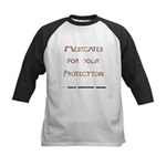 Medicated for your Protection Kids Baseball Jersey