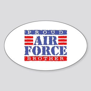 Proud Air Force Brother Oval Sticker