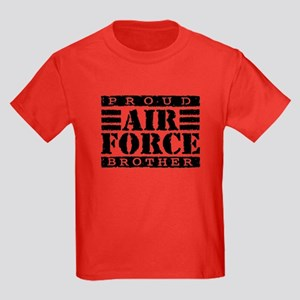 Proud Air Force Brother Kids Dark T-Shirt