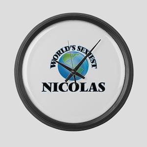 World's Sexiest Nicolas Large Wall Clock